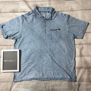 Tommy Bahama Mens Size XL Light Blue Polo Shirt